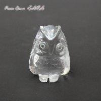 フクロウ (梟)◆水晶 彫刻 メール便不可