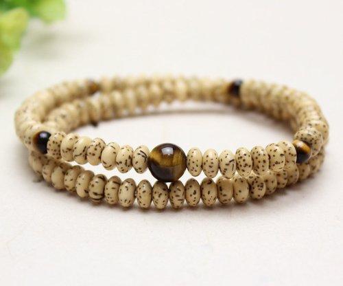 他の写真3: 【108玉ブレス】 星月菩提樹 虎目石 数珠ブレスレット