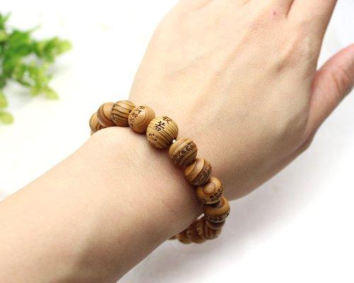 他の写真3: 【般若心経彫】 屋久杉 (10ミリタイプ) 数珠 ブレスレット