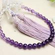女性用数珠 グラデーション 紫水晶