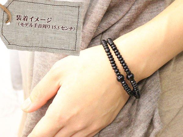 画像5: 28%OFF【108玉】ブラックオニキス 【小】数珠ブレスレット