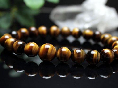 他の写真2: 8ミリ 虎目石 数珠ブレスレット(念珠タイプ)