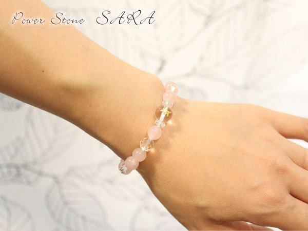 画像3: 【守護梵字ブレス】恋愛運アップに♪ローズクォーツ パワーストーン 数珠 ブレスレット