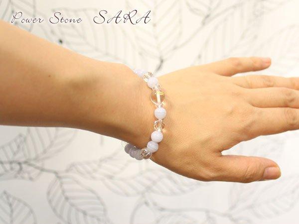 画像4: 【守護梵字ブレス】穏やかで平和な気持ちに♪良好な人間関係に♪ブルーレース パワーストーン 数珠 ブレスレット