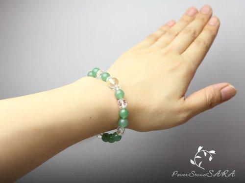 他の写真2: 【守護梵字ブレス】イライラ解消♪グリーンアベンチュリン パワーストーン 数珠 ブレスレット