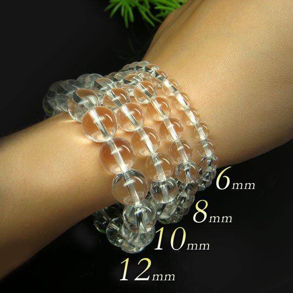 画像3: 開運・厄除け♪12ミリ極上水晶 パワーストーン ブレスレット 数珠