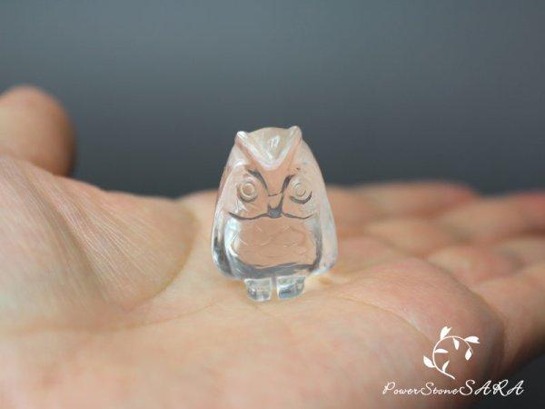 画像2: フクロウ (梟)◆水晶 彫刻 メール便不可