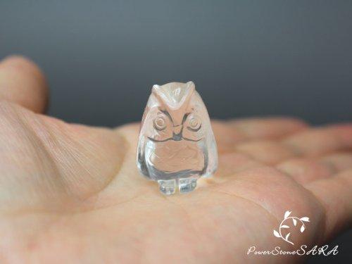 他の写真2: フクロウ (梟)◆水晶 彫刻 メール便不可