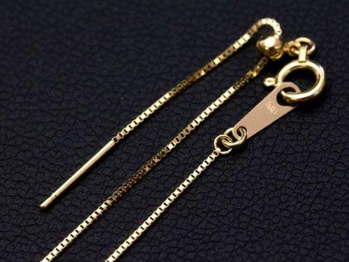 他の写真3: 【取り寄せ】K18スライドピンチェーン ベネチアン 18金 0.6mm 45cm