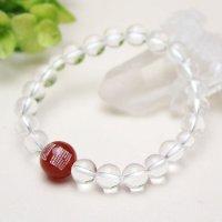 般若心経 親珠 1珠 彫 12ミリ 瑪瑙 8ミリ 水晶 数珠ブレスレット