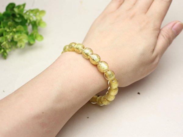 画像4: 10ミリ 金沢産本金箔トンボ玉 数珠 ブレスレット