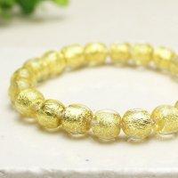10ミリ 金沢産本金箔トンボ玉 数珠 ブレスレット