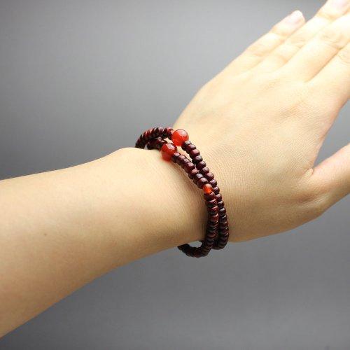 他の写真2: 大感謝セール【108玉 数珠 ブレスレット】虎檀 瑪瑙 (こたん めのう) 腕輪 念珠