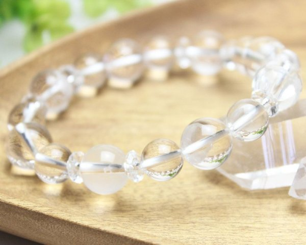 画像2: 【開運四神ブレス】男らしい大玉サイズ!万能パワーの水晶 パワーストーン 数珠