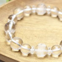 【開運四神ブレス】男らしい大玉サイズ!万能パワーの水晶 パワーストーン 数珠