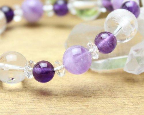 他の写真2: 【開運四神ブレス】魅力アップ・調和・癒し♪ 紫水晶×ラベンダーアメジスト パワーストーン ブレスレット