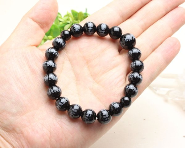 画像4: 大感謝セール50%OFF【般若心経彫】ブラックオニキス 10ミリタイプ  数珠ブレスレット