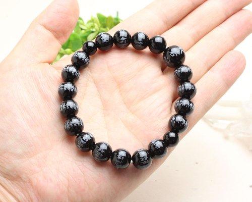 他の写真2: 大感謝セール【般若心経彫】ブラックオニキス 10ミリタイプ  数珠ブレスレット
