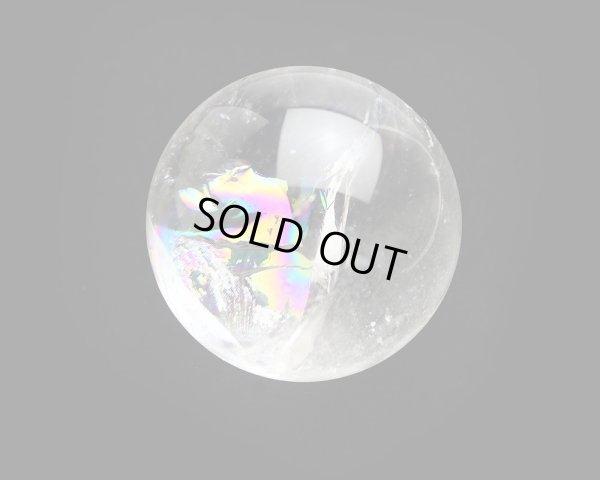 画像3: レインボー入◆水晶 丸玉 約59ミリ 置石 メール便不可