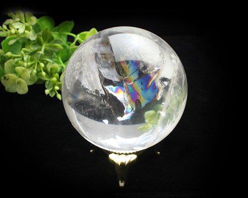 他の写真3: レインボー入◆水晶 丸玉 約59ミリ 置石 メール便不可