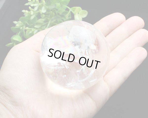 画像5: レインボー入◆水晶 丸玉 約59ミリ 置石 メール便不可