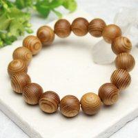 稀少◆屋久杉 12ミリ 数珠 ブレスレット  長寿・開運・厄除け