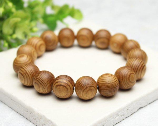 画像2: 稀少◆屋久杉 12ミリ 数珠 ブレスレット  長寿・開運・厄除け