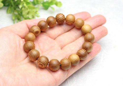 他の写真2: 稀少◆屋久杉 12ミリ 数珠 ブレスレット  長寿・開運・厄除け