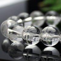 【追加用】10ミリ&12ミリ 四葉のクローバー彫水晶 1玉
