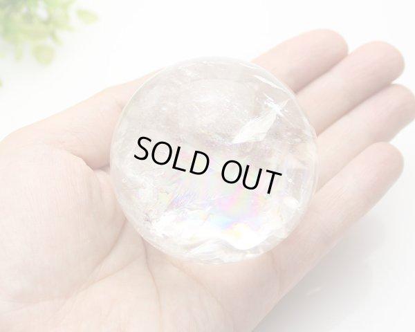 画像3: 【セール20%OFF】レインボー入 ◆ 水晶 丸玉 約58ミリ 置石 メール便不可