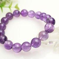 12ミリ アメジスト 紫水晶 大玉 パワーストーン ブレスレット