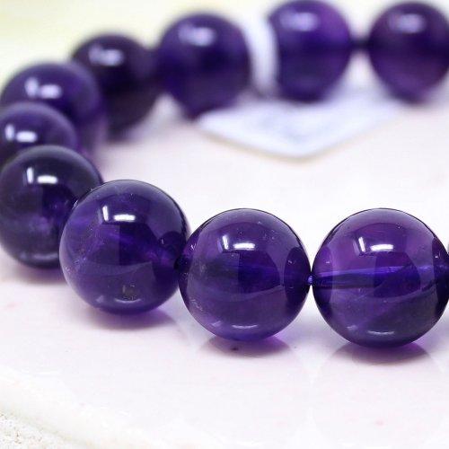 他の写真2: 【写真現品お届け】最高品質 12.5-13ミリ ウルグアイ産 アメジスト 紫水晶 ブレスレット