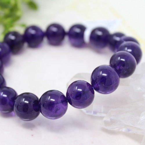 他の写真1: 【写真現品お届け】最高品質 12.5-13ミリ ウルグアイ産 アメジスト 紫水晶 ブレスレット