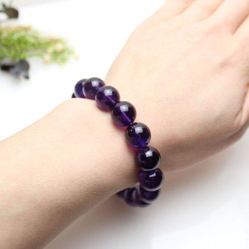 他の写真3: 【写真現品お届け】12.5-13ミリ ウルグアイ産 アメジスト 紫水晶 ブレスレット