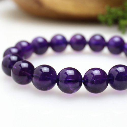 他の写真2: 【写真現品お届け】12.5-13ミリ ウルグアイ産 アメジスト 紫水晶 ブレスレット