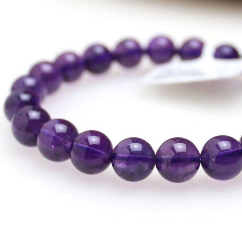 他の写真2: 【写真現品お届け】8.5-9ミリ ウルグアイ産 アメジスト 紫水晶 ブレスレット