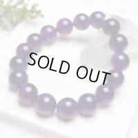 【写真現品お届け】12.5-13ミリ ウルグアイ産 アメジスト 紫水晶 ブレスレット
