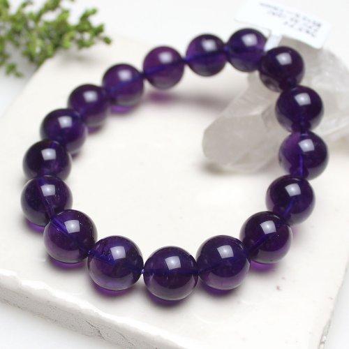 他の写真1: 【写真現品お届け】12.5-13ミリ ウルグアイ産 アメジスト 紫水晶 ブレスレット