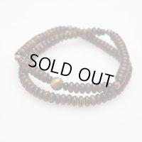 [19センチ]大感謝セール【108玉ブレス】栴檀 虎目石 (せんだん とらめいし) 数珠ブレスレット