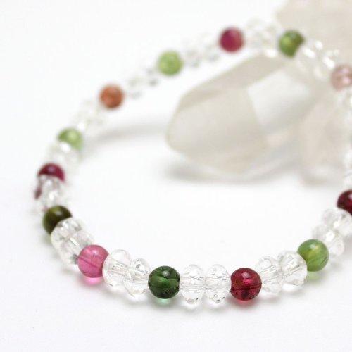 他の写真1: 大感謝セール【スターシェイプカット】 ミックストルマリン 数珠 ブレスレット