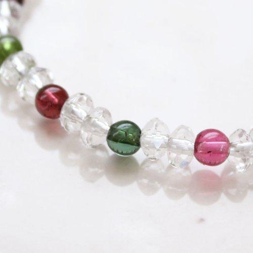 他の写真2: 大感謝セール【スターシェイプカット】 ミックストルマリン 数珠 ブレスレット