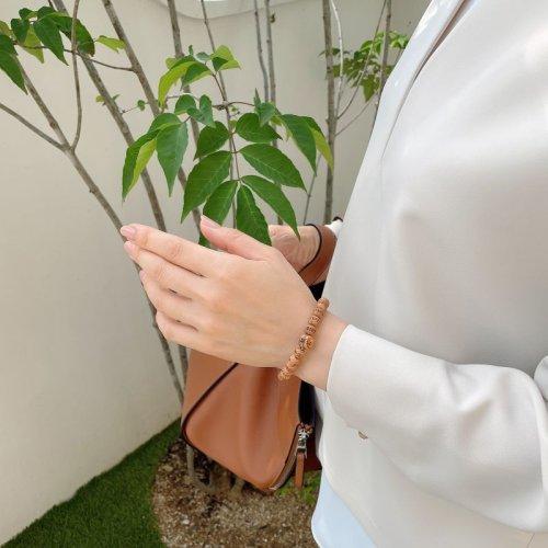他の写真3: 【アウトレット】内周16.5cm【般若心経彫】 屋久杉 (8ミリタイプ) 数珠 ブレスレット