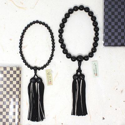 オニキス 数珠 男性 女性 ブラックオニキス 黒瑪瑙