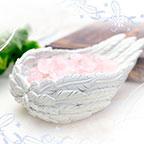 天使の羽 パワーストーン ローズクォーツ 浄化皿